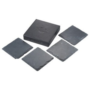Laguiole Black Slate Coaster Set